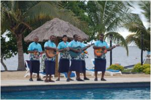 Serenaded by the pool at WorldMark Denarau Island