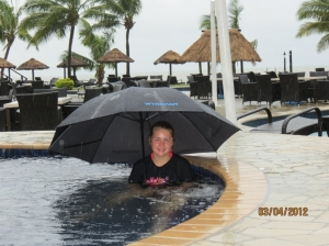 WorldMark Denarau Island pool during storm