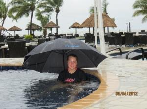 WorldMark Denarau Island pool during storm
