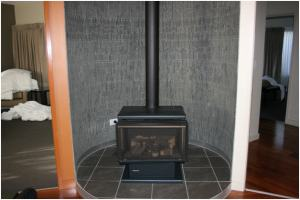 Fireplace in 3 Bedroom Presidential at Wyndham Seven Mile Beach