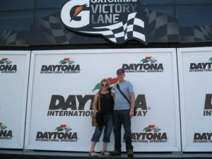 Chris and Helen at Daytona race track