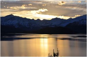 sunset over Lake Wanaka