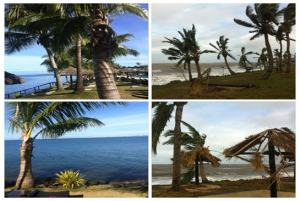 Before and after Cyclone Evan at Wyndham Resort Denarau Island
