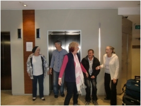 Barb and Lindsay are surprised by fellow Gold Coast WorldMark South Pacific Club Owners, Bernadette and David, and guest Jillie at Wyndham Sydney in July 2012