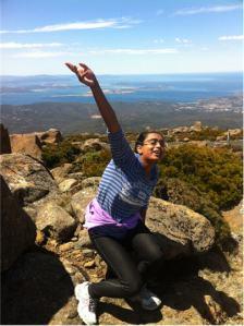 On top of Mount Wellington, Hobart, Tasmania