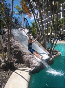 Water slide at WorldMark Resort Golden Beach