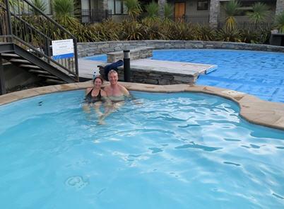 Heated pool at Wyndham Wanaka