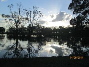 The lake at sunset - Wyndham Resort Ballarat
