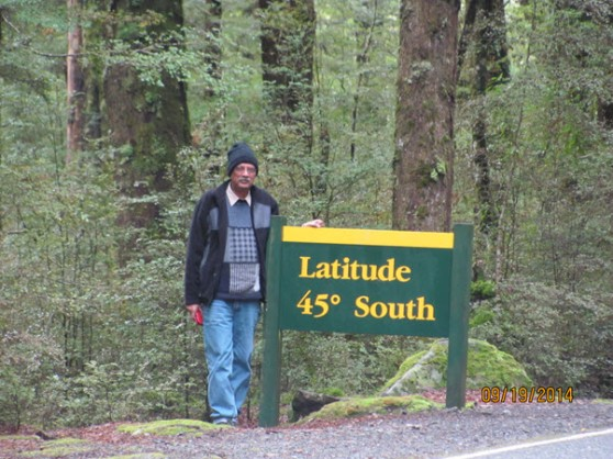 Latitude 45 degrees South, New Zealand