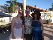 Dad, Kayla & Emma at Wyndham Resort Denarau Island