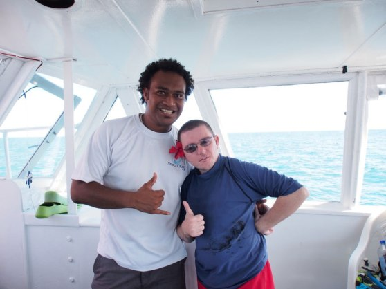 Fiji day cruise staff