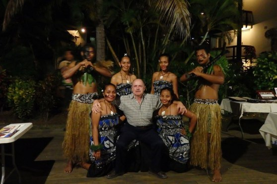 Fijian cultural dancers at Wyndham Resort Denarau Island