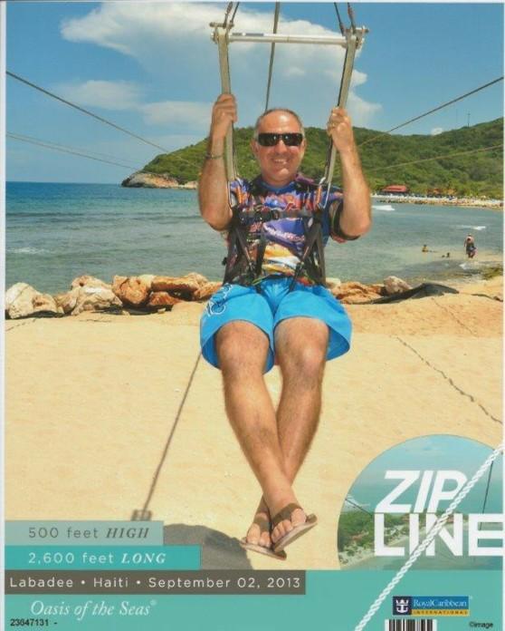Zip Lining in Labadee