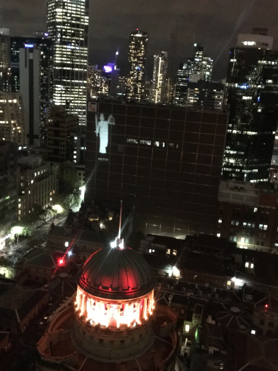 The view from Wyndham Hotel Melbourne